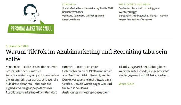 Personalmarketing2Null Screenshot