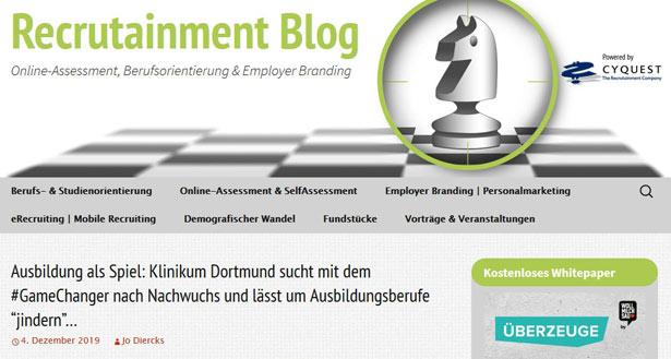 Recrutainment Blog Screenshot